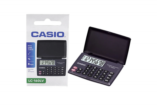 Calculadora Casio Bolsillo 8 Digitos LC-160LV
