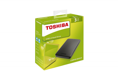 Disco Duro Portatil  Toshiba Canvio Basic 3 TB USB 3.0
