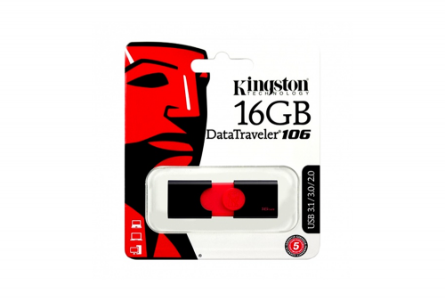 MEMORIA USB 16GB DT106 KINGSTON ROJO