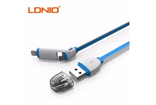 Cable Ldnio Apple y Android 2 en 1