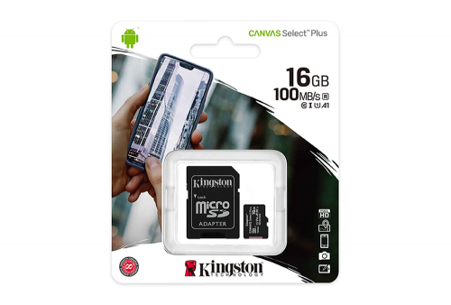 MEMORIA MICRO SD-HC 16GB KINGSTON 100MB /S