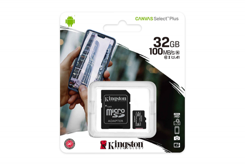 MEMORIA MICRO SD-HC 32GB CL10 100MB A1 KINGSTON