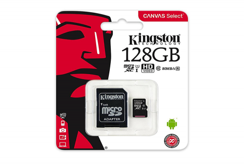 Memoria Micro SD 128GB Kingston 80MB Clase 10