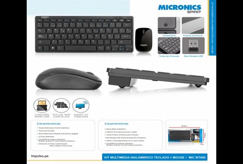 Kit Spirit T800 Micronics Teclado y Mouse