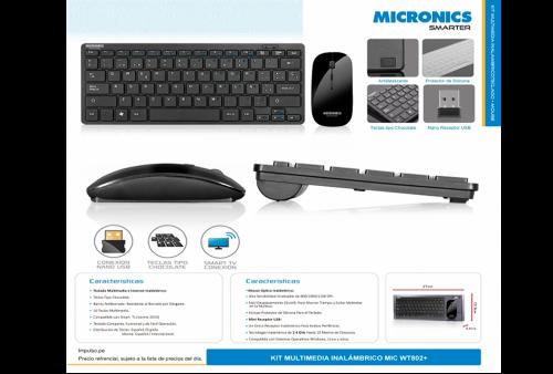 Kit Teclado y Mouse Micronics T802