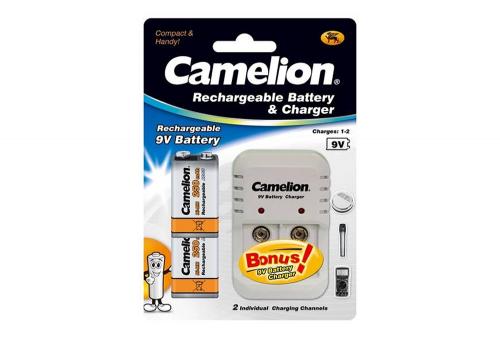 Cargador Kit Camelion Incluye 2 Baterias