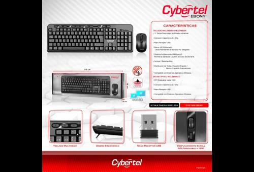 Teclado Cybertel Ebony CYB T800