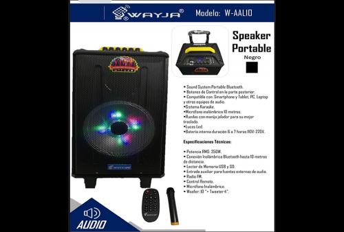 Parlante Bluetooth Wayja W-AAL10 250W