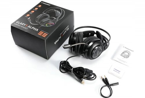 Audifono Gamer Tronsmart Glary Alpha para PC, PS4, Luces LED