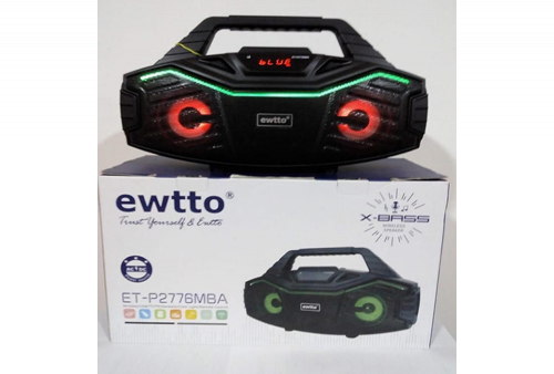 Parlante Bluetooth Ewtto ET-P2776MBA