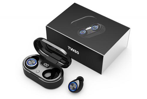 Audifonos Bluetooth 5.0 TW80 con Pantalla