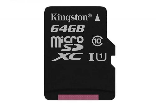 Memoria Micro SD 64GB SDCS64 Kingston 80MB-S Clase 10