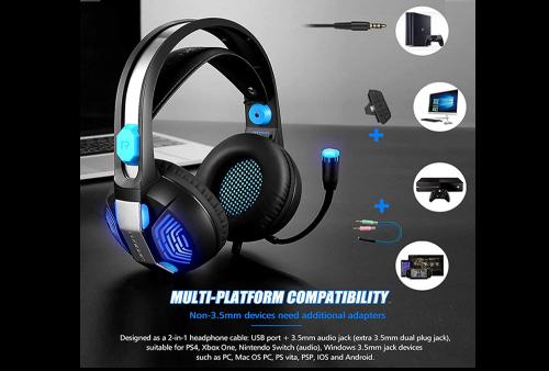 Audifonos Gamer  PHOINIKAS H-100 con Cancelacion de Ruido