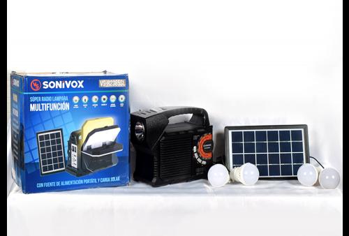 Parlante Bluetooth con Panel Solar SoniVox VS-R2385SL
