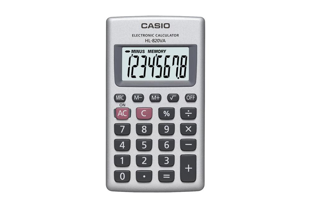 Calculadora Casio 8 Dig de Bolsillo HI-820VA