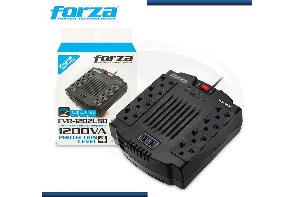 Estabilizador Forza FVR-1202USB