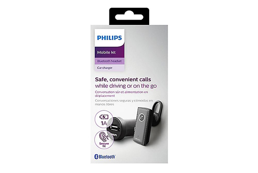 Philips - Combo Cargador Auto y Handsfree Bluetooth