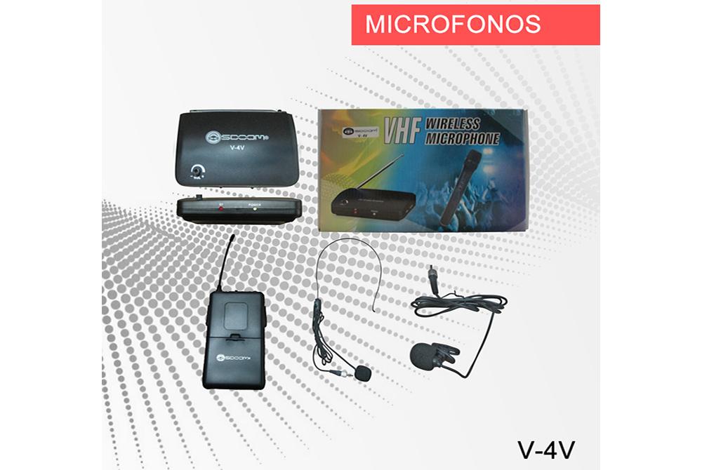 Microfono Inalambrico Soom Vincha V-4V