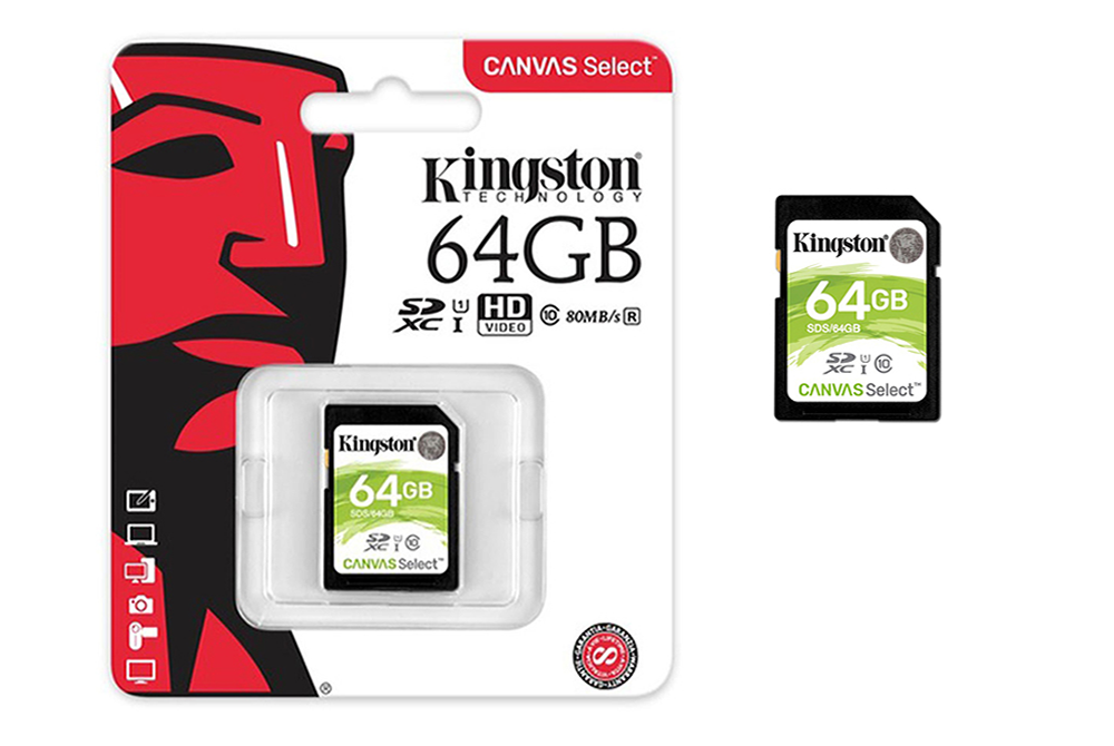 Memoria SD 64GB Kingston UHS-I  Clase 10