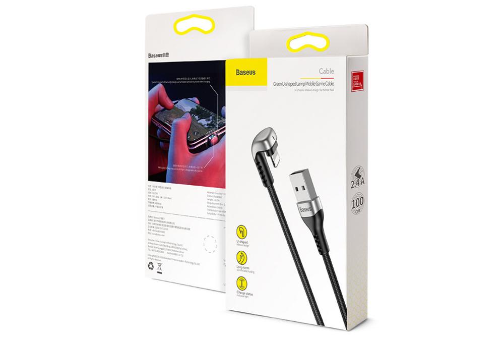 Cable USB Baseus Lightning U- para Iphone de carga rapida