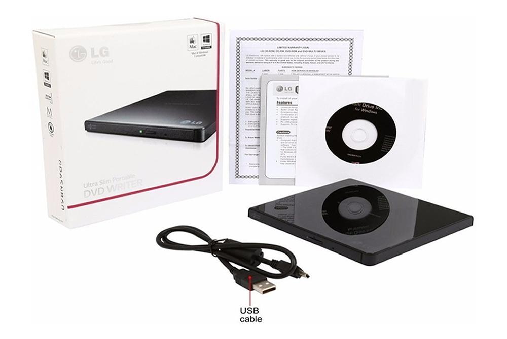 Lectora y Grabadora de DVD Externa LG GP65NB60 Slim