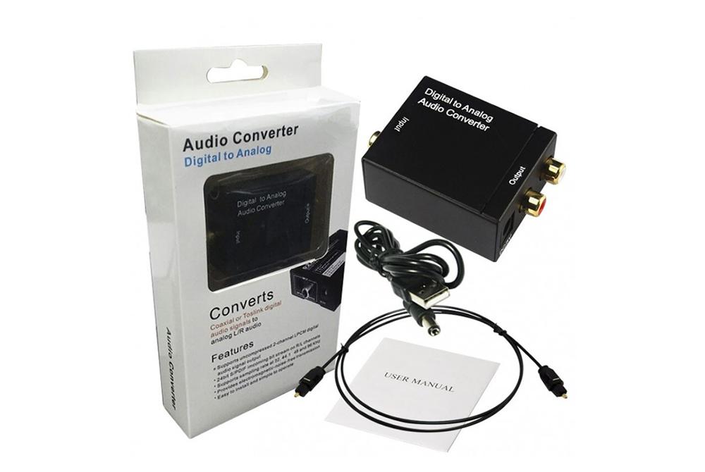 Convertidor de Audio Optico a RCA Digital