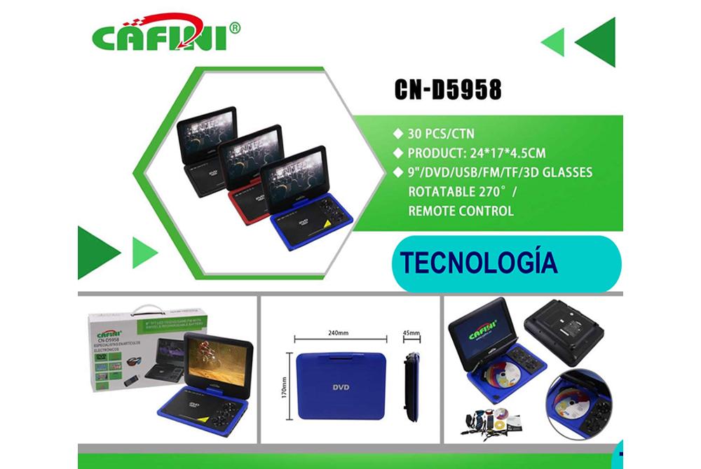 DVD Portatil Cafini CN-D5958