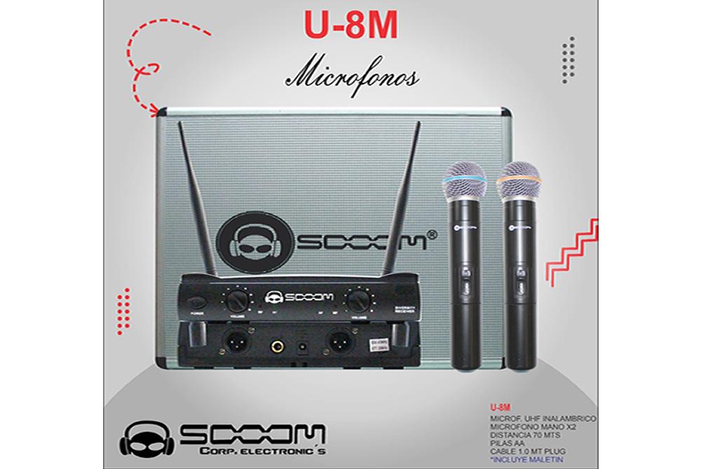 Microfono Profesional Sooom U-8M Inalámbrico