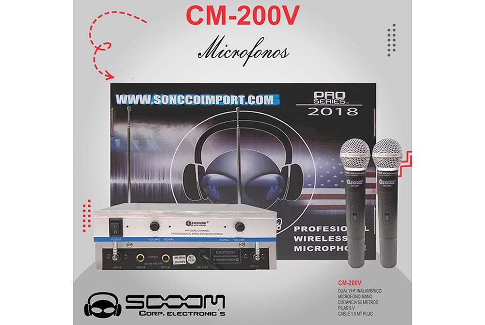 Microfono Profesional Sooom CM-200V Inalámbrico