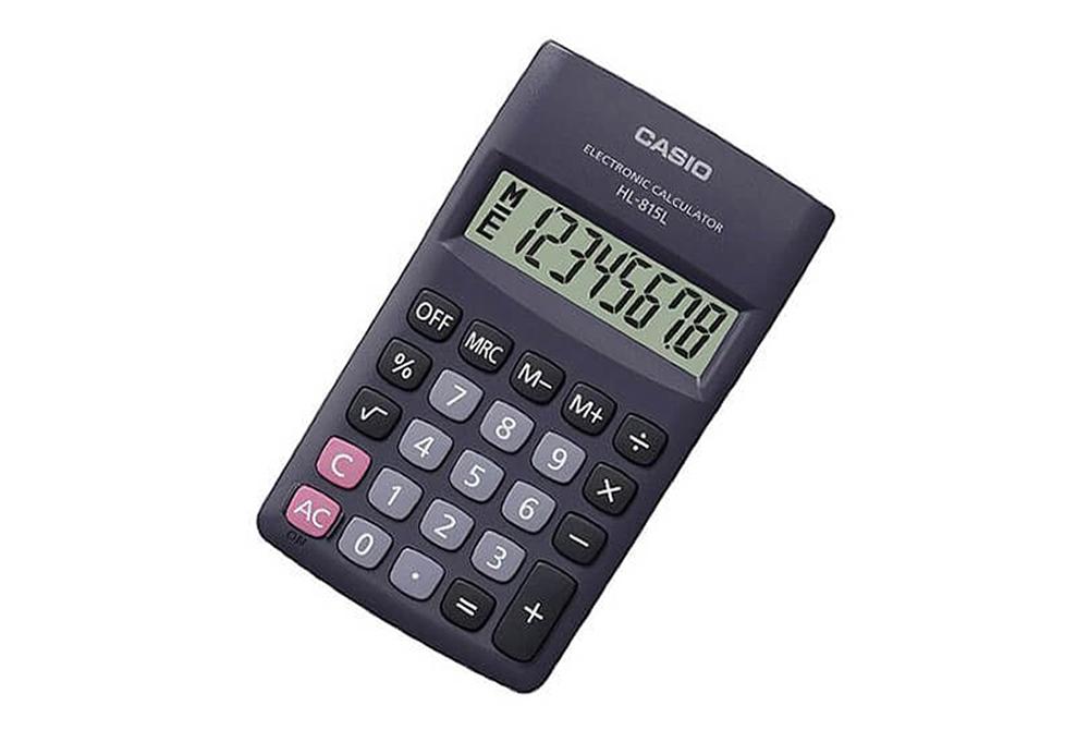 Calculadora 8 Digitos HL-815L-BK Casio