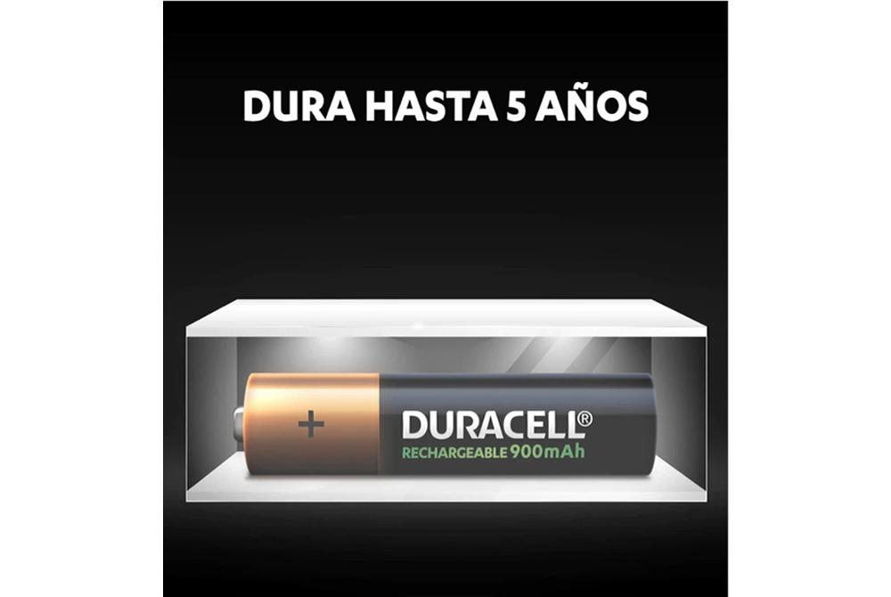 Pilas Recargables Duracell AAA X4 de 900mAh