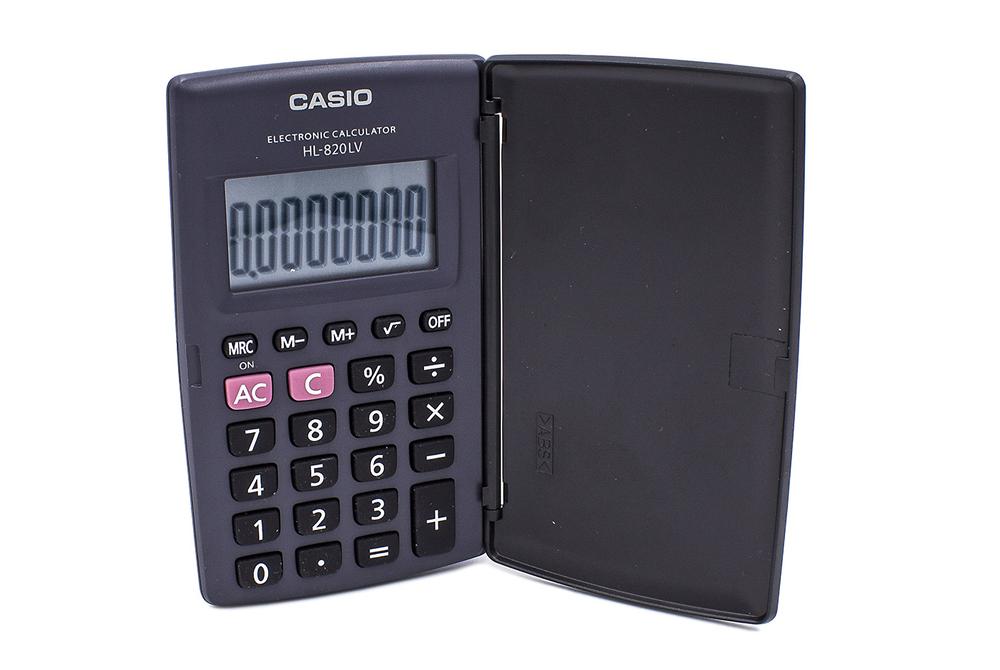 Calculadora Casio de 8 Digitos HL-820LV-BK