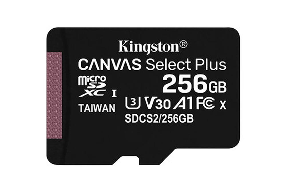 Memoria Micro SD Canvas Kingston 256GB Clase 10 100MB-S